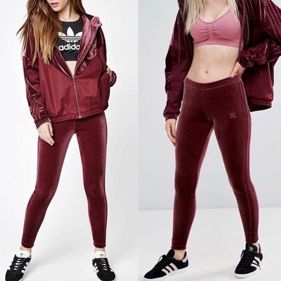 22ec21a5b0453 adidas Pants | Velvet Vibes 3 Stripe Leggings | Poshmark